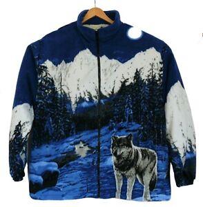 fleece jacke wolf w lfe wolfsrudel ohne kapuze gr m l. Black Bedroom Furniture Sets. Home Design Ideas