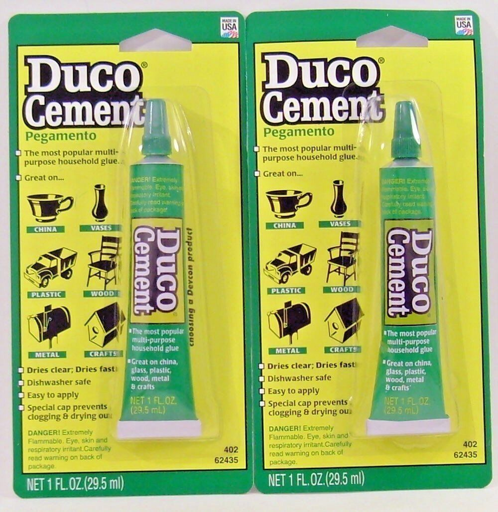 Devcon Duco 62435 Household Cement Glue 1oz. Tube (2 Pack) Adhesives, Sealants & Tapes