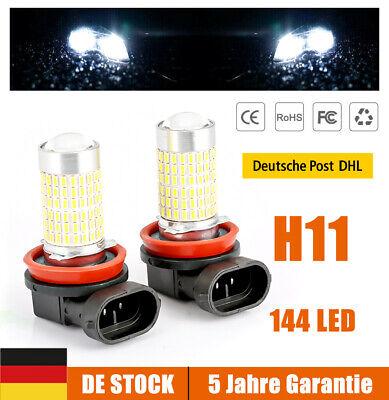 2x H11 H9 H8 LED Nebelscheinwerfer Kit 144SMD 3014 Xenon birne 6000k Lampe Weiß
