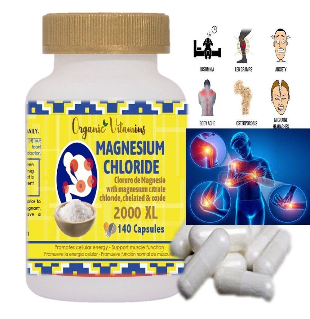 Prima de citrato de magnesio Cápsulas 140 - Potente 2000 mg óxido de magnesio