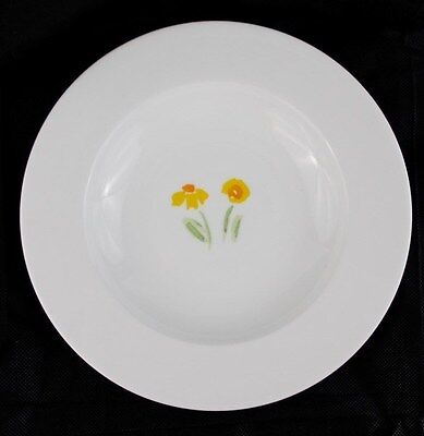 NEW Anna's Artistry China by Crate and Barrel Large Bowl Yellow Flowers Floral