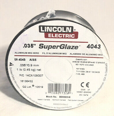 Lincoln Electric Welding Tools .035 In. Superglaze Wire Ed030308