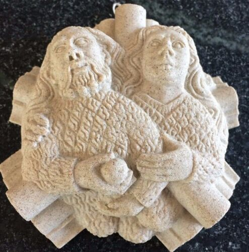 ADAM & EVE Roof Boss w/ Stone from WINCHESTER CATHEDRAL / Martin & Oliver Webb