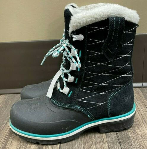 Ariat Winter Boots - Size 7 - Black/Teal