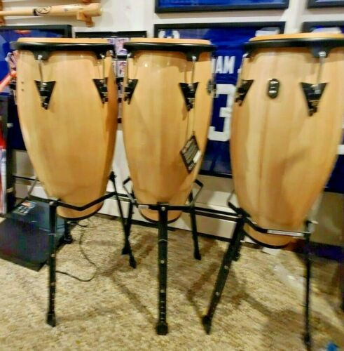 LP Aspire Congas 3-pc set with stands.