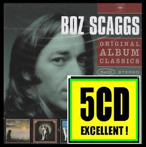 BOZ SCAGGS (5 CD) DOWN TWO THEN LEFT~SILK DEGREES~MIDDLE MAN~SLOW DANCER *NEW*