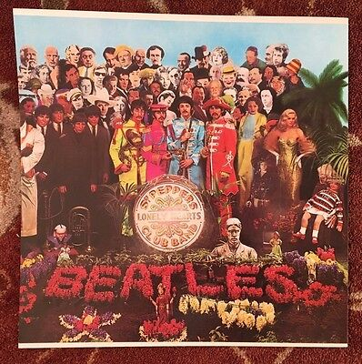 THE BEATLES  Sgt. Pepper's Lonely Hearts Club Band  promotional poster flat