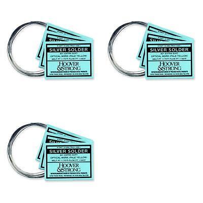 Hoover & Strong Sterling Silver Repair Solder Soft Medium Hard Kit 3 Pcs