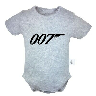 TV show James Bond NO.007 Gun Newborn Jumpsuit Baby Romper Infant Clothes Outfit](Gunslinger Outfit)