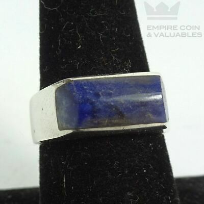 Sterling Silver Blue Lapis Inlay Ring Sz 6.75
