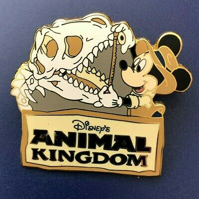 disney trading pin Animal Kingdom Mickey mouse dinosaur bones vintage souvenir