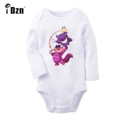 Alice in wonderland cat Newborn Jumpsuit Baby Bodysuit Long Sleeve Romper Outfit - Alice In Wonderland Outfit
