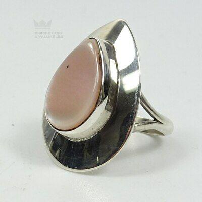 Shape Mother Of Pearl Ring (Elegant Ladies Sterling Silver  925 MOP Mother of Pearl Pear Shape Ring Size)