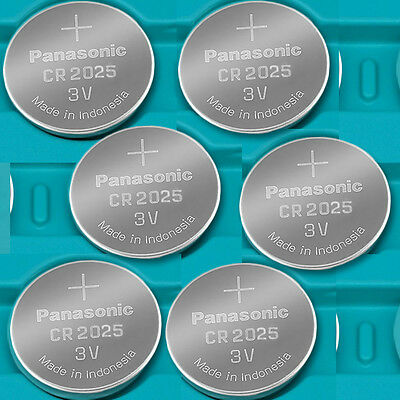 6 NEW PANASONIC CR2025 ECR 2025 Batteries 3V Exp.2026