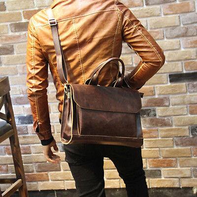 - Men Portfolio Business Case PU Leather Briefcase Laptop Shoulder Messenger Bag