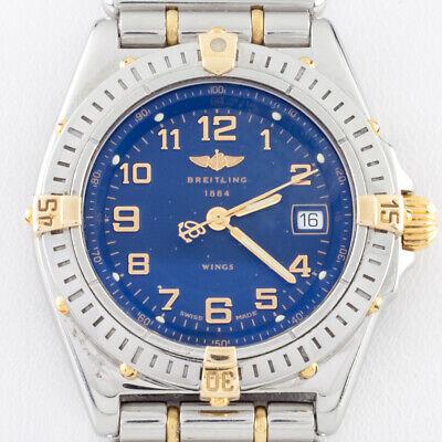 Breitling Women's Two Tone SS 18k Gold Wings Quartz Watch B67350