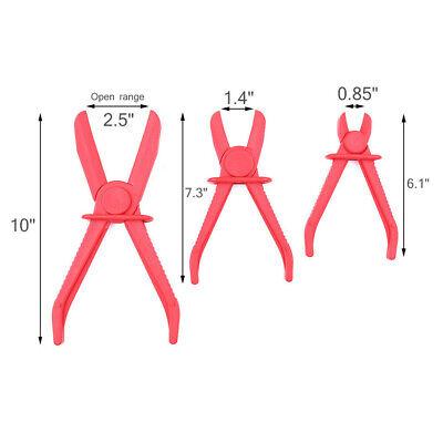 3Pcs/Set Flexible Hose Clamp Pipe Clamp Brake Line Pipe Locking Plier Radiator