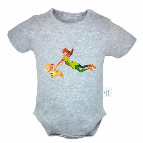 Disney Peter Pan Newborn Jumpsuit Unisex Baby Romper Bodysui
