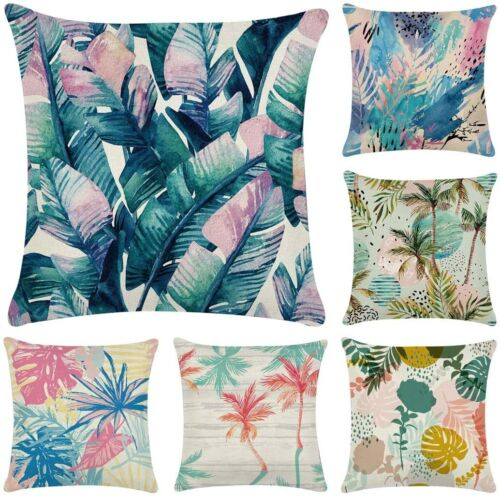 New+Thick+Cotton%2Flinen+Tropical+print+Cushion+Covers%2C+look+nice+outdoors+x+6