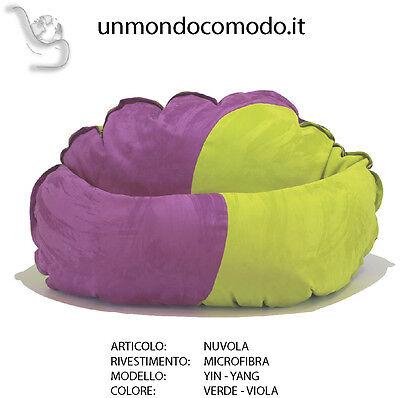 unmondocomodo.it: Poltrona sacco NUVOLA - MICROFIBRA - VERDE & VIOLA