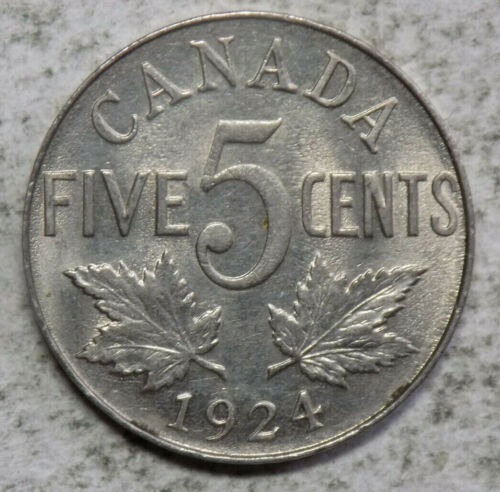 Canada 1924 5 Cents Coin