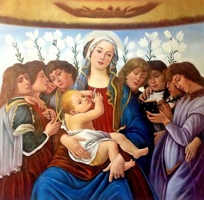 Sandro Botticelli - Madonna of the Pomegranate oil on canvas reproducition