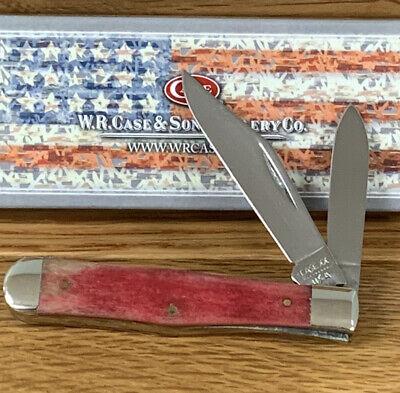 VINTAGE CASE XX 9 DOT 1981 6225 1/2 SR COKE BOTTLE POCKET KNIFE RED SMOOTH BONE