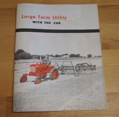 Ih Mccormick Farmall Cub Tractor Large Farm Utility Dealer Brochure Booklet