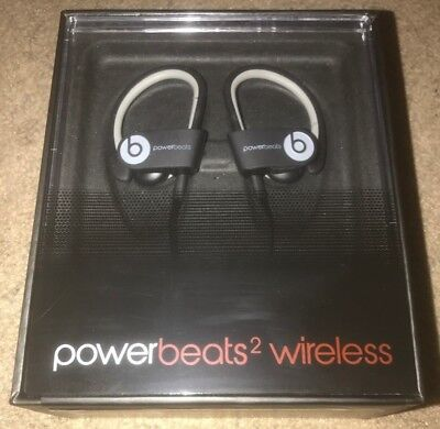 Dre Beats Powerbeats 2 Wireless Ear Hook Bluetooth Headphones - Black Sport