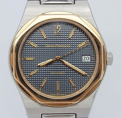 c.1990's Girard Perregaux Laureato ref.8010 36mm Steel Rose Mens Automatic Watch
