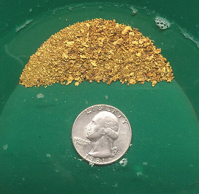 2 LB Gold Paydirt Unsearched + Gold Added Panning Flake Nugget