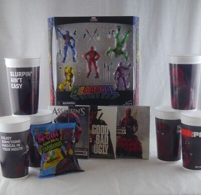 Deadpool Movie Merchandise Super Lot Marvel Legends 711 Exclusive Cups Candy](Deadpool Merchandise)