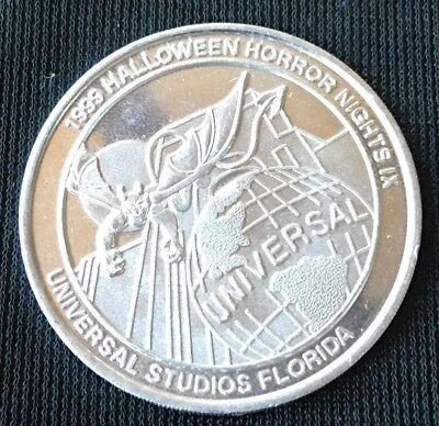 Universal Studios Florida HALLOWEEN HORROR NIGHTS IX 1999 Souvenir Coin Token  - Universal Studios Florida Halloween