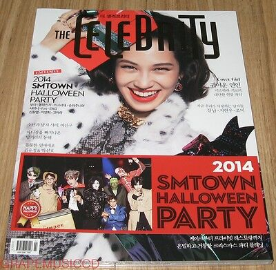 THE CELEBRITY EXO SHINEE f(x) SM TOWN HALLOWEEN PARTY MAGAZINE 2014 DEC DECEMBER](Exo Halloween Party)