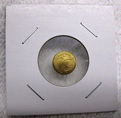 3 Good Luck Wedding Tokens ~ St Gaudens Mini Double Eagle Reeded Gold Tone Coins