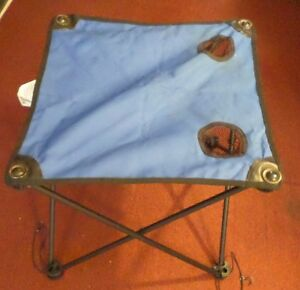 ozark trail blue folding camp table in carry case
