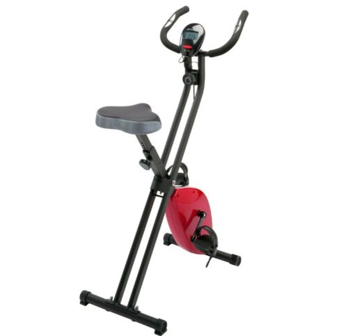 Fitness Fahrrad Hometrainer Heimtrainer Cardio Training Bike Trimmrad Schw Rot