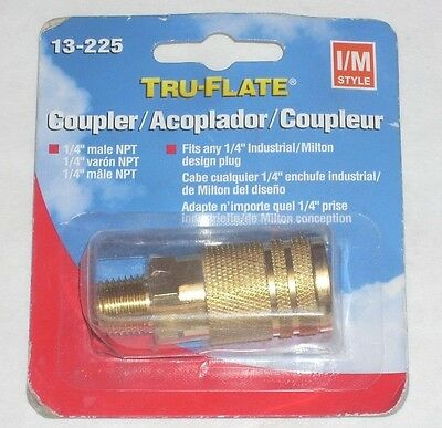 Plews Tru-flate 13-225 Air Line Compressor 14 Male Air Coupler Fitting