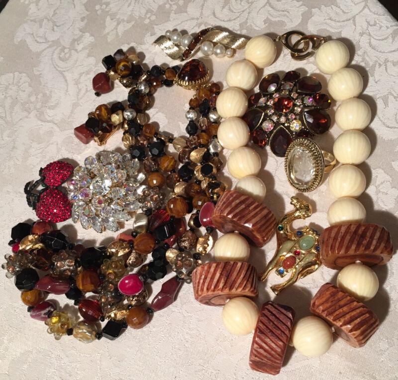 Sensational High End VINTAGE Jewelry Hattie Carnegie Weiss Whiting & Davis BSK