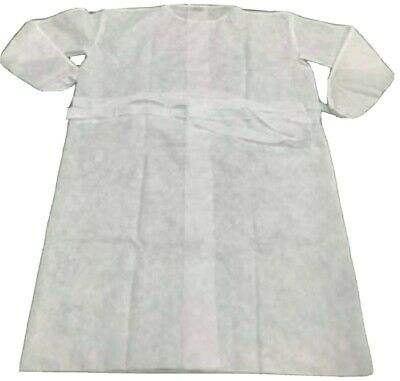 1 Pc Unisex Isolation Gown Protective Workwear For Dental Office Ppe White Color