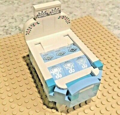Lego Bed Crib MOC Home Decor Dollhouse Bedroom Furniture Disney Belville Doll