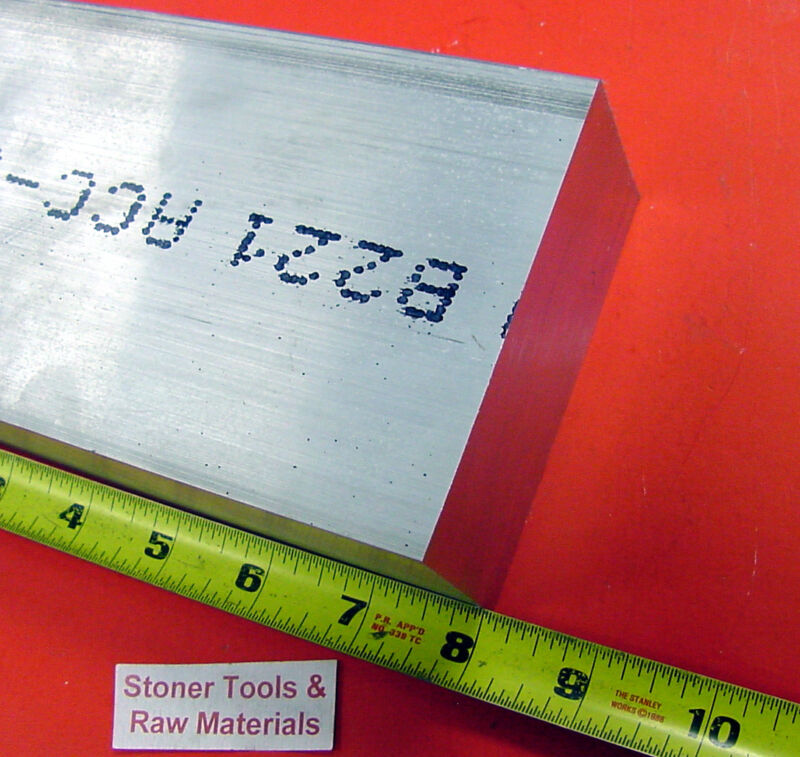 """1""""x 4"""" ALUMINUM FLAT BAR 8"""" long 6061 T6511 Solid Extruded Plate Mill Stock"""