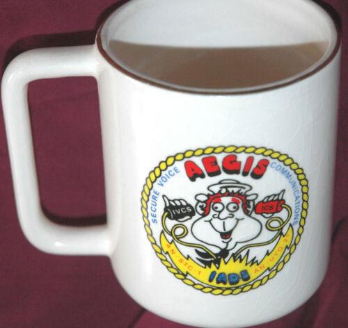 Vtg AEGIS HUGHES AIRCRAFT Coffee Mug CUP Rare US UNITED STATES Aerospace CALI