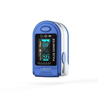 Fingertip Pulse Oximeter Oled Display Fda Spo2 Oxygen Saturation W Batteries
