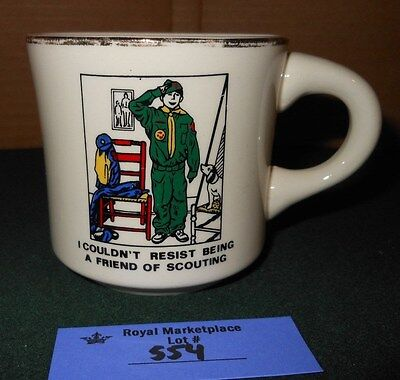 "VTG BSA Boy Scouts of America ""Friend of Scouting"" Coffee Cup Mug"