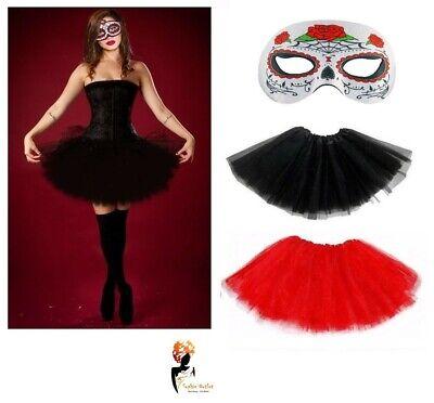 SENORITA DAY OF THE DEAD Halloween Ladies FANCY DRESS  COSTUME  MASK +TUTU ](Lady Of The Dead Costume)