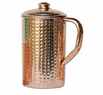 Copper Water Jug Pitcher Hammered Pot For Drinking Water Health Benefits 1500ML