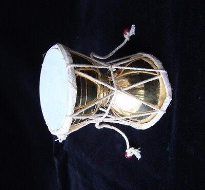 PROFESSIONAL HANDMADE Brass  RELIGIOUS SHIVA FOLK MUSICAL DAMROO DAMRU India
