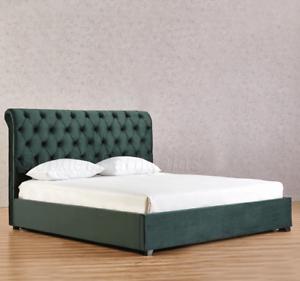 Emerald Green Velvet Bed Frame Queen or King Size New