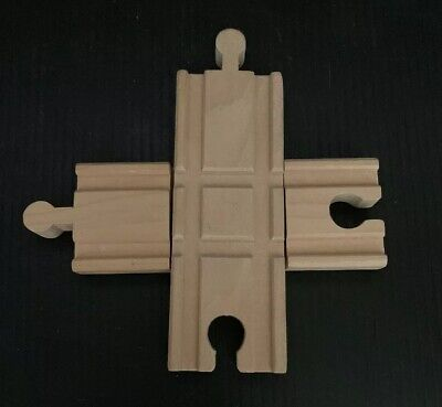 Thomas The Train Brio Compatible 4 Way Intersection Wood Crossing Track  Thomas The Train Room
